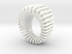Looped14 pendant in White Processed Versatile Plastic