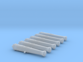 1/146 Royal Navy 12-pounder Cannons, short in Smoothest Fine Detail Plastic