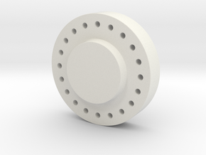 Hub-solid-MT-cap in White Natural Versatile Plastic