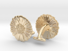 Daisy Cufflinks in 14K Yellow Gold