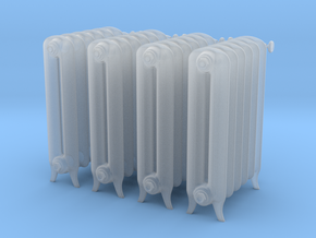 Printle Thing Plain Radiator x4 - 1/24 in Smooth Fine Detail Plastic