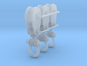 1-24_8in_pulley_clevis in Smooth Fine Detail Plastic