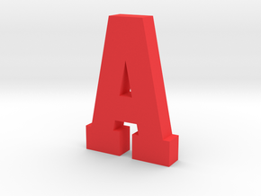 Large Decorative Letter A in Red Processed Versatile Plastic