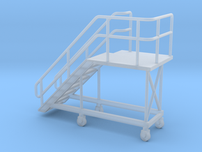 HO Train Access Stairs H20mm Left in Smooth Fine Detail Plastic