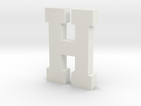 Decorative Letter H in White Natural Versatile Plastic