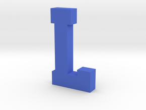 Decorative Letter L in Blue Processed Versatile Plastic