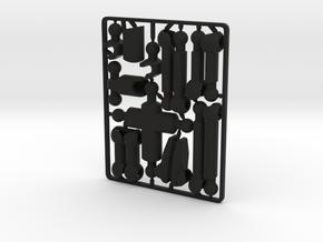 Mo-series Blanco Figure in Black Premium Strong & Flexible