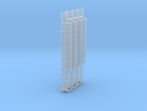 N Scale Cage Ladder 50mm (Platform) in Smooth Fine Detail Plastic