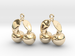 The Cherry Earrings in 14K Yellow Gold