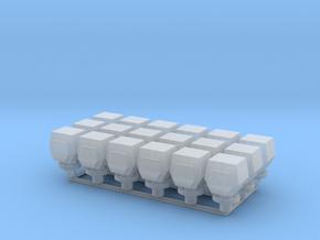 18 ventilation heads - 18 Lüfterköpfe_typ4, 1:50 in Smooth Fine Detail Plastic