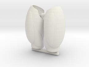 Human Exo-Skin Thigh Set for ModiBot Mo Figure in White Natural Versatile Plastic