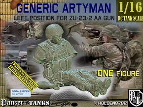 1/16 Left Artyman for ZU-23-2 AA Gun in White Natural Versatile Plastic