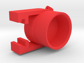 1 50  Round hat D62 for 12MM pipe for Weserhutte in Red Processed Versatile Plastic