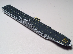 USS Midway 1/1800 in White Natural Versatile Plastic