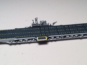 USS Midway w/o deck numbers 1/1800 in White Natural Versatile Plastic