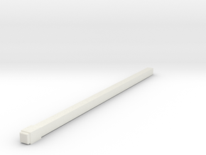 1 50 Square Pole 8MM X 240MM in White Natural Versatile Plastic