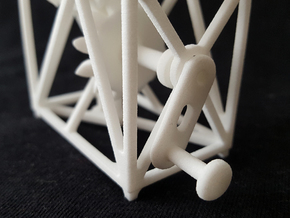 Hyperbola - Straight Rod through a Curved Hole in White Natural Versatile Plastic
