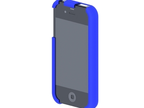 DD - Iphone 4 - Bumper in Blue Strong & Flexible Polished