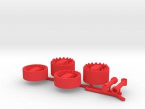 Zwillingskupplung mit Verzahnung in Red Processed Versatile Plastic