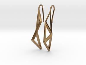 sWINGS Structura Earrings in Natural Brass