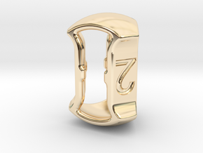 "D3, 5/8"" (16mm), Open, Balanced in 14k Gold Plated Brass"