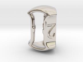 "D3, 5/8"" (16mm), Open, Balanced in Rhodium Plated Brass"
