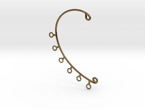 Ear Cuff in Polished Bronze