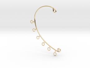 Ear Cuff in 14k Gold Plated Brass