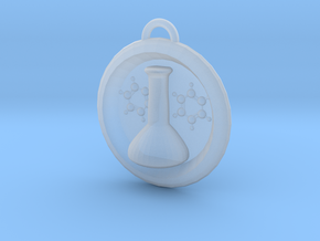Volumetric Flask Medalion in Smooth Fine Detail Plastic