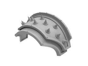 Iron Spikes - Shoulder Pad in Smooth Fine Detail Plastic