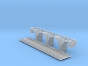 137 Ft Arch Bridge Z Scale in Smooth Fine Detail Plastic