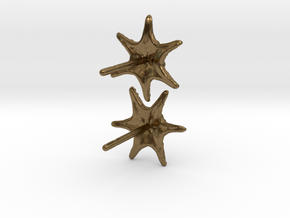 Sea Star Earrings in Natural Bronze
