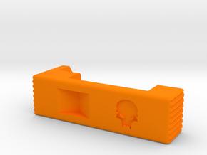 MSK extended mag release (right)  in Orange Processed Versatile Plastic