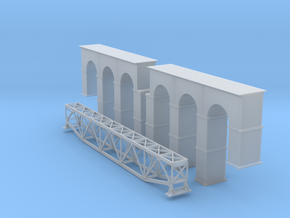 Arched Truss Bridge Z Scale in Smooth Fine Detail Plastic