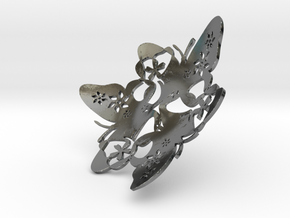 Butterfly Bowl 1 - d=10cm in Fine Detail Polished Silver