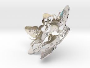Butterfly Bowl 1 - d=10cm in Platinum