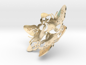 Butterfly Bowl 1 - d=10cm in 14k Gold Plated Brass