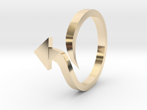 Arrow Ring (Size 6) in 14k Gold Plated Brass