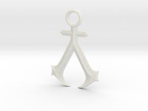 New England Assassins Emblem in White Premium Versatile Plastic