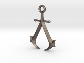New England Assassin's Emblem in Polished Bronzed Silver Steel