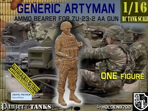 1/16 Ammo Bearer for ZU-23-2 AA Gun in White Natural Versatile Plastic
