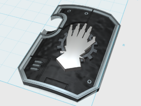 5x Mech Hands - Terminator Wall Shields in Smooth Fine Detail Plastic