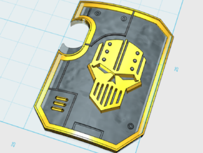 5x Iron Legion: Terminator Thunder Shield in Frosted Ultra Detail