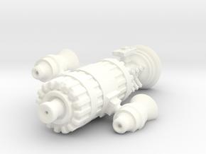 Human Cruiser in White Processed Versatile Plastic