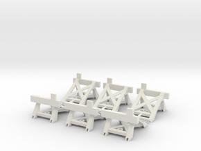 Prellbock/Puffer Fleischmann Profigleis (6x, H0) in White Natural Versatile Plastic