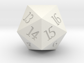 Customizeable Spindown D20 in White Premium Strong & Flexible