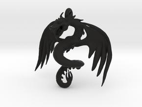 Dragon pendant in Black Natural Versatile Plastic