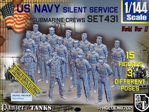 1/144 USN Sub Crew Set431 in Smooth Fine Detail Plastic