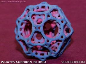 Whatevahedron bluish in Full Color Sandstone