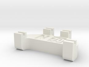 N Scale Track Gauge - Code 70 in White Natural Versatile Plastic